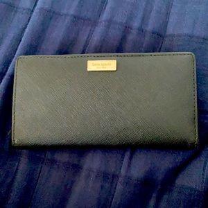 Kate Spade Long Wallet In Black